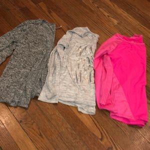 Girls size 7/8 Lot shirts & Cardigan Justice +
